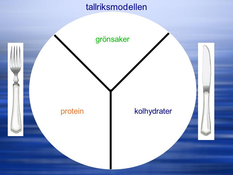 tallriksmodellen kolhydraterprotein grönsaker