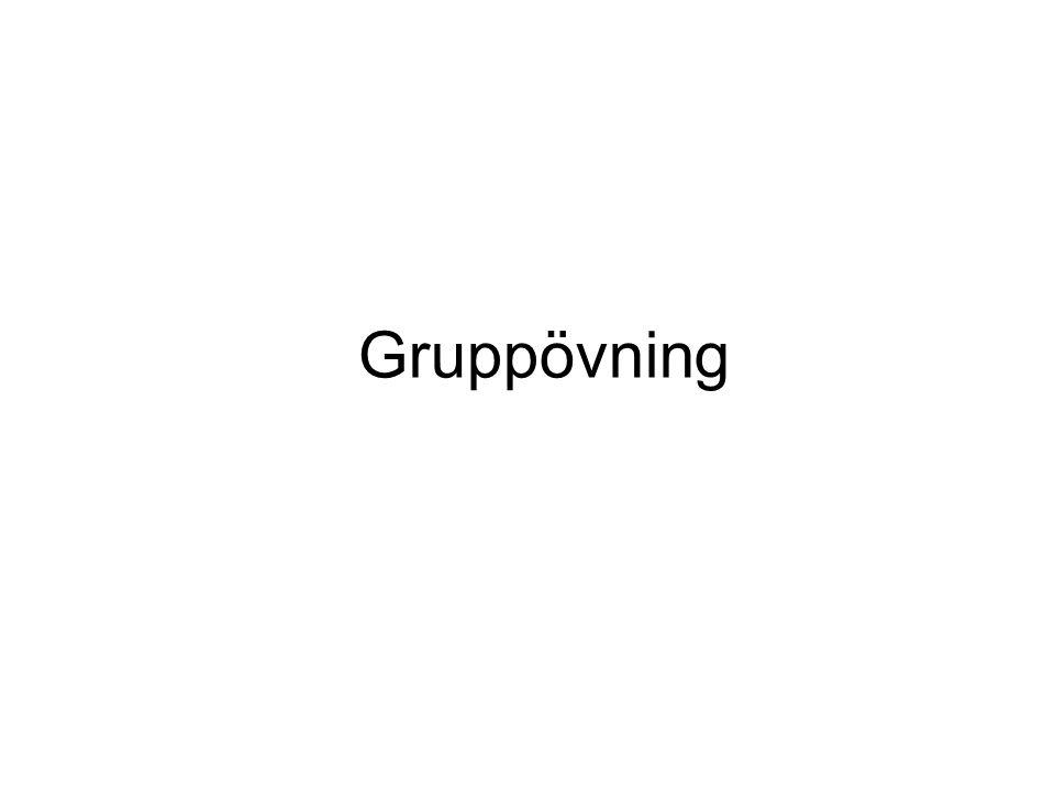 Inledande probleminventering Dela in er i grupper om två-fyra personer.