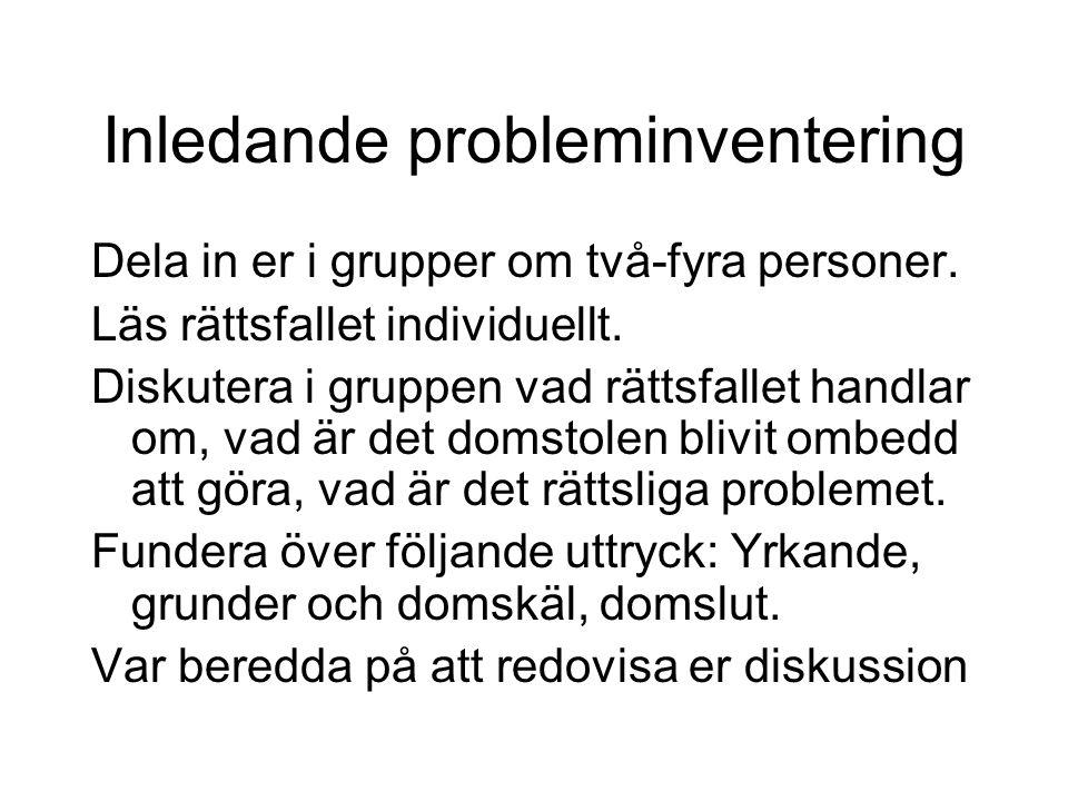 Forts: Juridisk svenska för juriststudenter.Några tips.