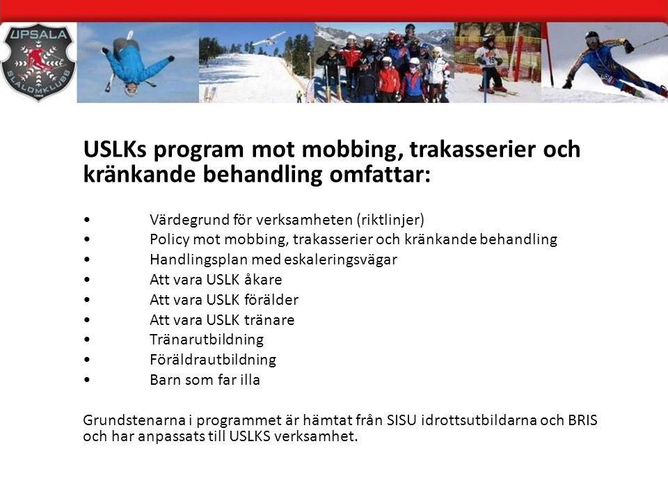 Syfte med workshopen Att gemensamt påbörja arbetet med att ta fram en värdegrund för USLK.