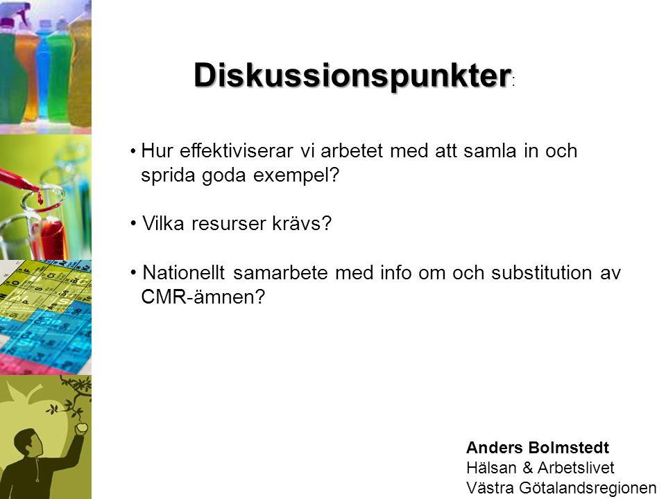 Anders Bolmstedt Hälsan & Arbetslivet Västra Götalandsregionen Diskussionspunkter Diskussionspunkter : Hur effektiviserar vi arbetet med att samla in