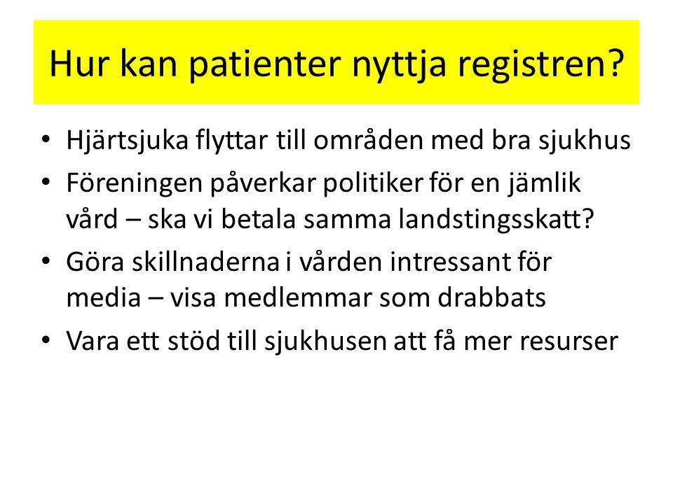 Hur kan patienter nyttja registren.