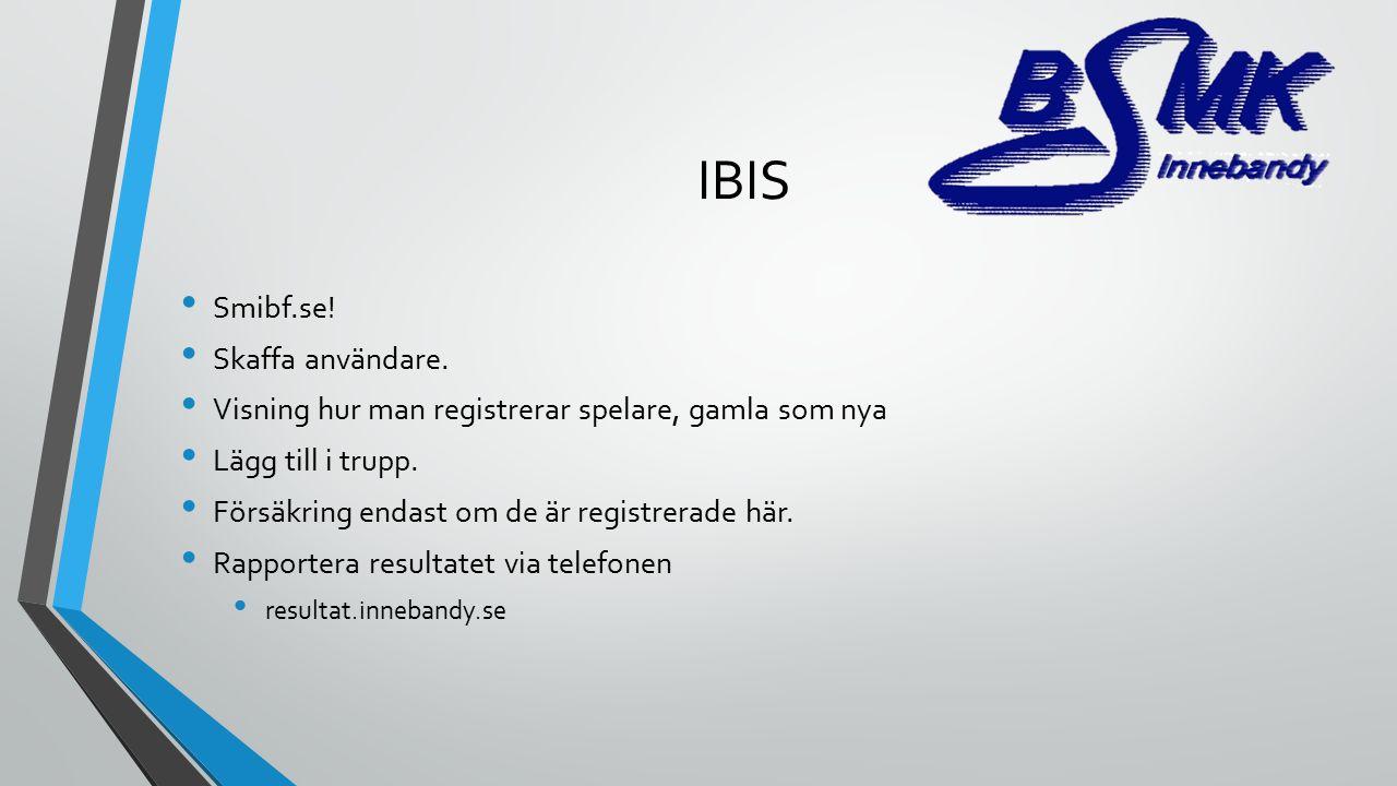 IBIS Smibf.se. Skaffa användare.