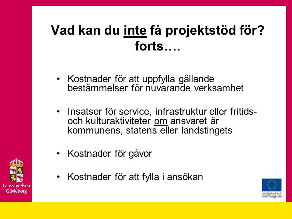 Kostnader för att uppfylla gällande bestämmelser för nuvarande verksamhet Insatser för service, infrastruktur eller fritids- och kulturaktiviteter om