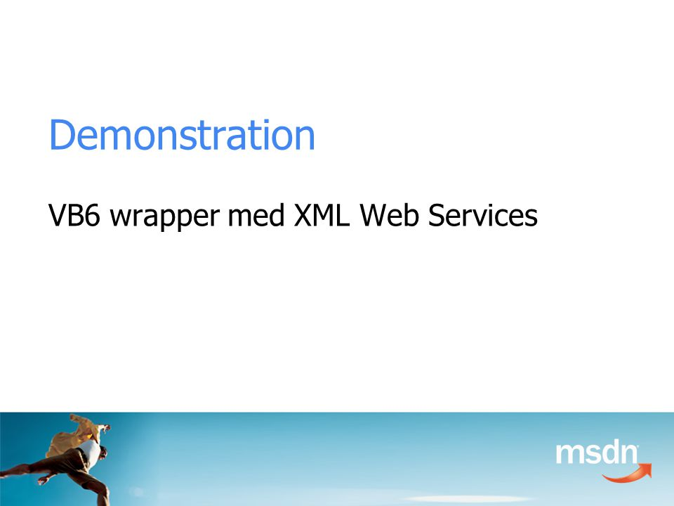 Demonstration VB6 wrapper med XML Web Services