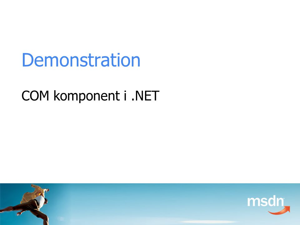 Demonstration COM komponent i.NET