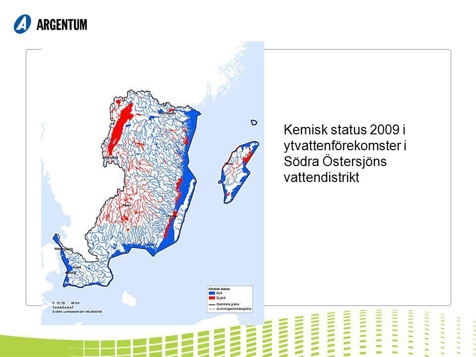 Kemisk status 2009 i ytvattenförekomster i Södra Östersjöns vattendistrikt