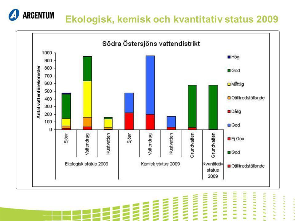 Ekologisk, kemisk och kvantitativ status 2009