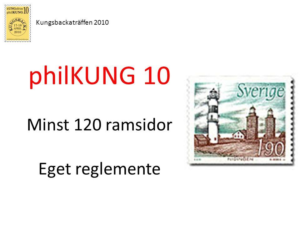 Kungsbackaträffen 2010 philKUNG 10 Minst 120 ramsidor Eget reglemente