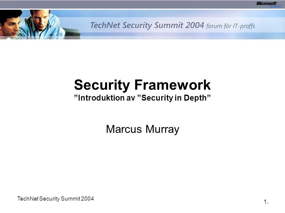 12. TechNet Security Summit 2004 Så vad skall vi ta oss till?