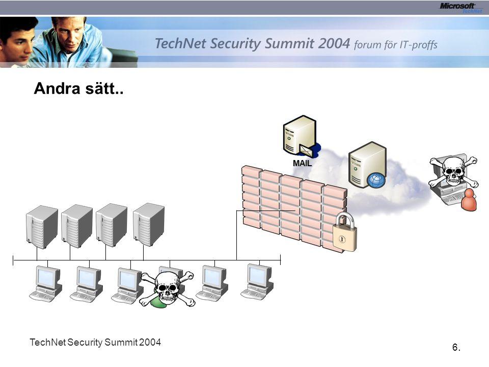 17. TechNet Security Summit 2004