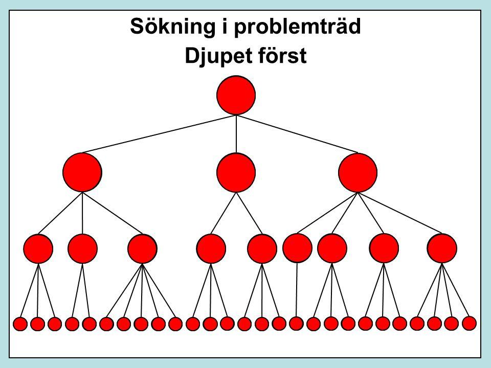 Djupet först Sökning i problemträd