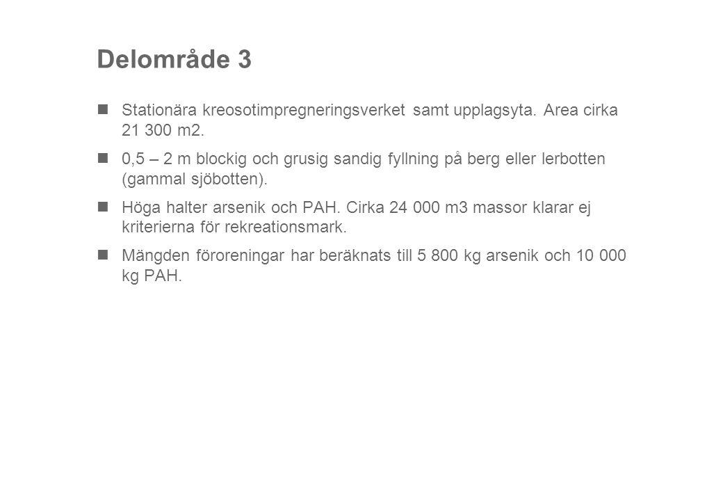 Delområde 3 Stationära kreosotimpregneringsverket samt upplagsyta.