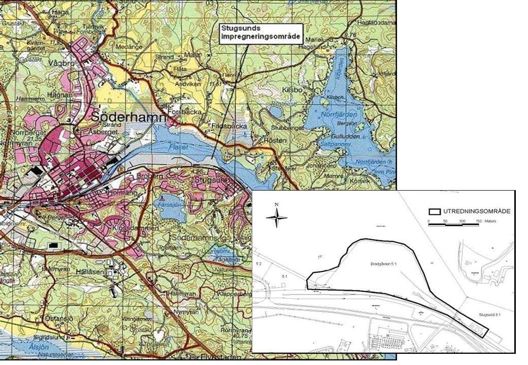 Delområde 2 Mobila kreosotimpregneringsverket samt stationära CCA- anläggningen.