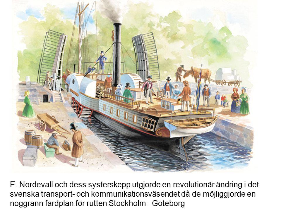 Fartyget byggdes i Norrköping åren 1836 – 1837. Fartyget byggdes för färd på Göta Kanal som blev färdig fem år tidigare. Den röda pricken SV om Motala