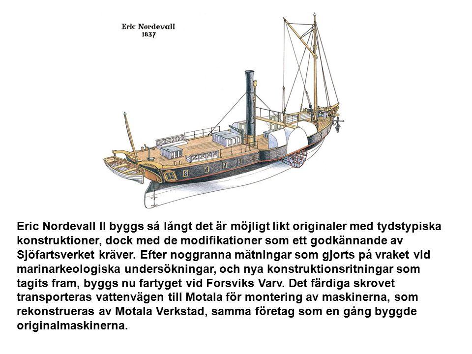 Ångfartyget skall byggas på Forsviks varv på västsidan av Vättern nära Karlsborg Brukssamhället Forsvik ligger 10 km nordväst om Karlsborg, vackert be