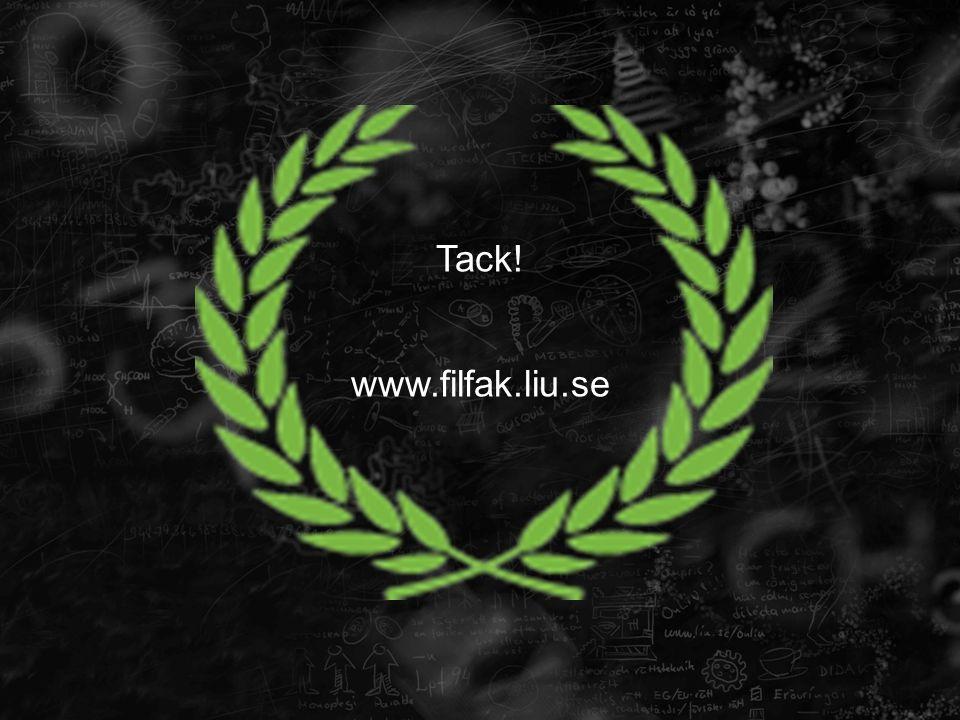 Tack! www.filfak.liu.se