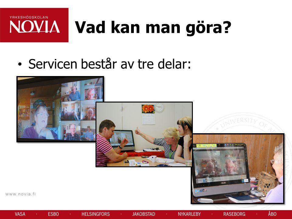 Vad kan man göra Servicen består av tre delar: