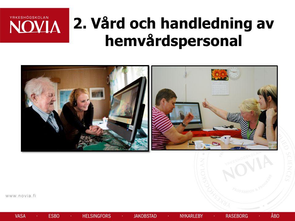 2. Vård och handledning av hemvårdspersonal