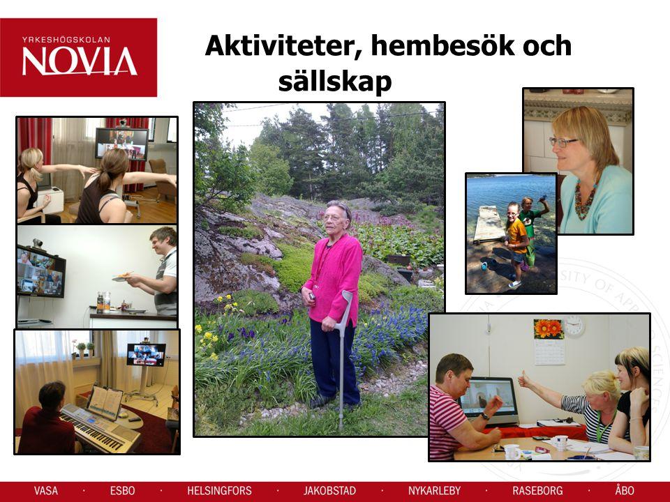 Aktiviteter, hembesök och sällskap
