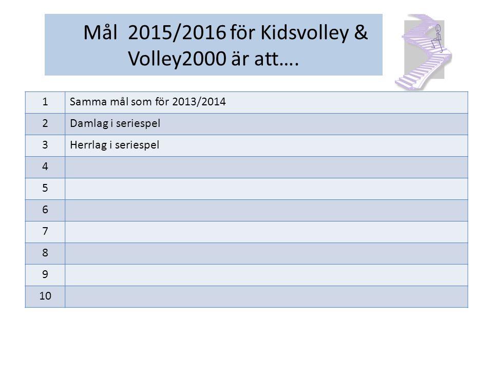 Verksamhetsplan 2013/2014 för Veteranvolley Herr Målgrupp/målgrupper för vår verksamhet är: Personer som har ett ganska stort kunnande inom volleyboll.