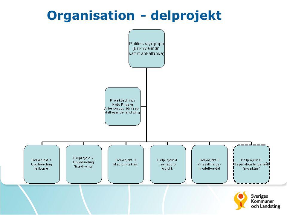 Organisation - delprojekt