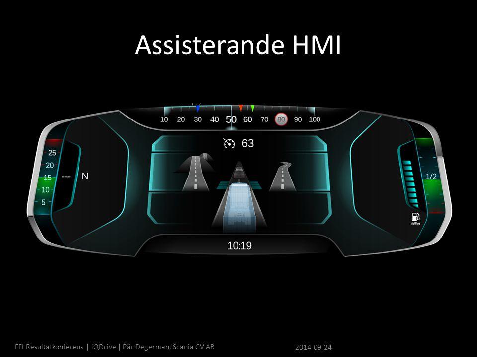 Assisterande HMI 2014-09-24 FFI Resultatkonferens | iQDrive | Pär Degerman, Scania CV AB