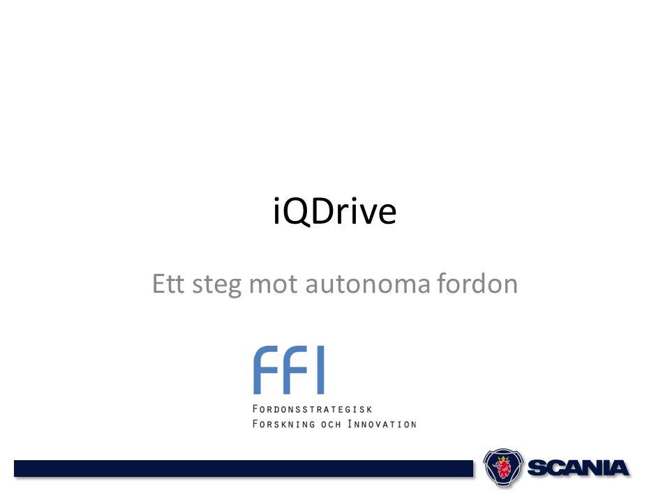 iQDrive Ett steg mot autonoma fordon