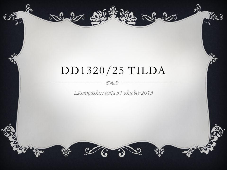 DD1320/25 TILDA Lösningsskiss tenta 31 oktober 2013