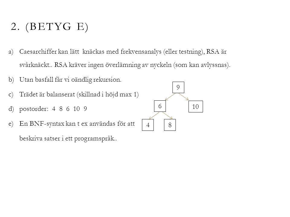 3.(BETYG E) Ja, RLE kan användas för att komprimera bilden.