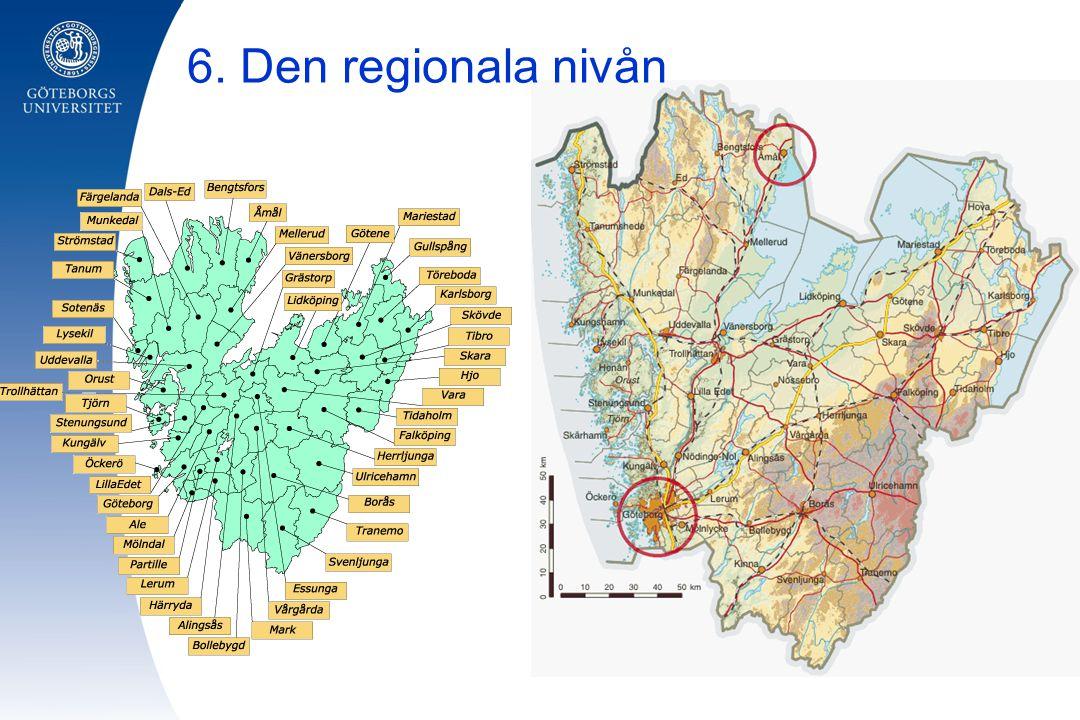 6. Den regionala nivån