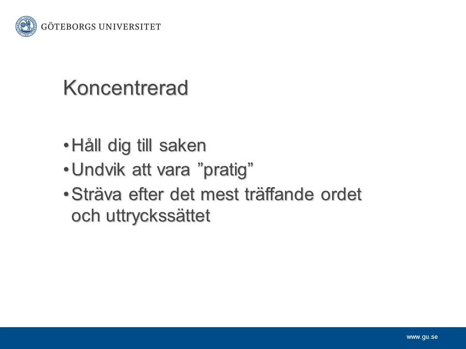 www.gu.se Notsystem Om källhänvisningen gäller enstaka ord, t.