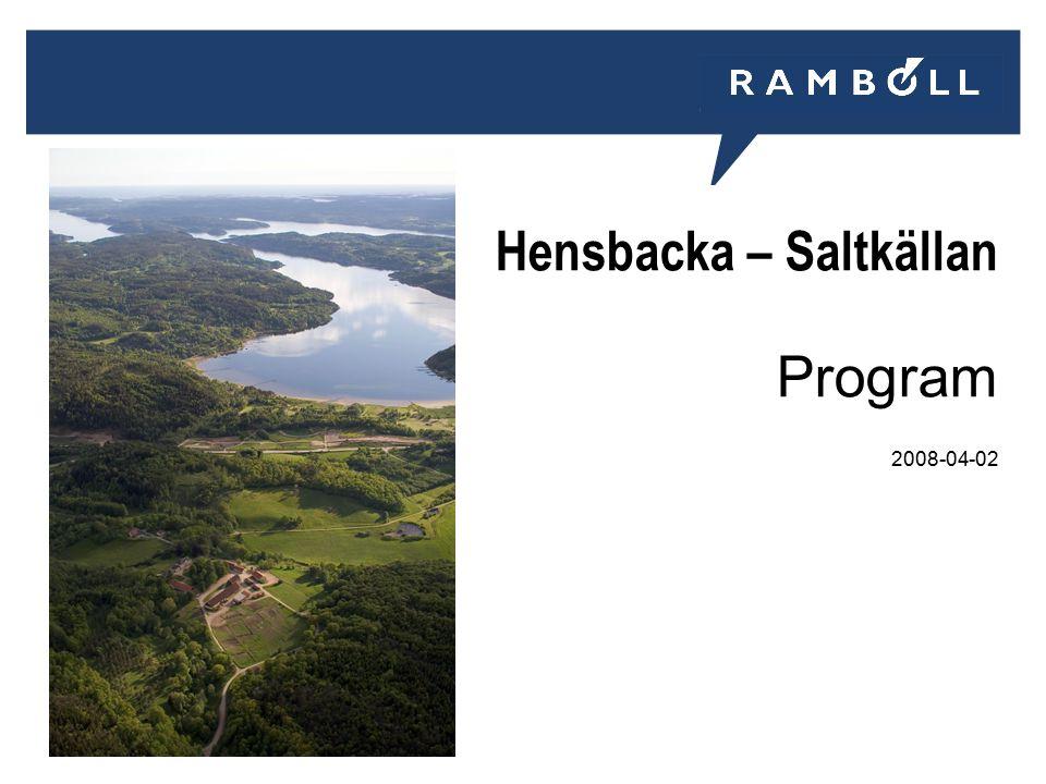 Hensbacka – Saltkällan Program 2008-04-02