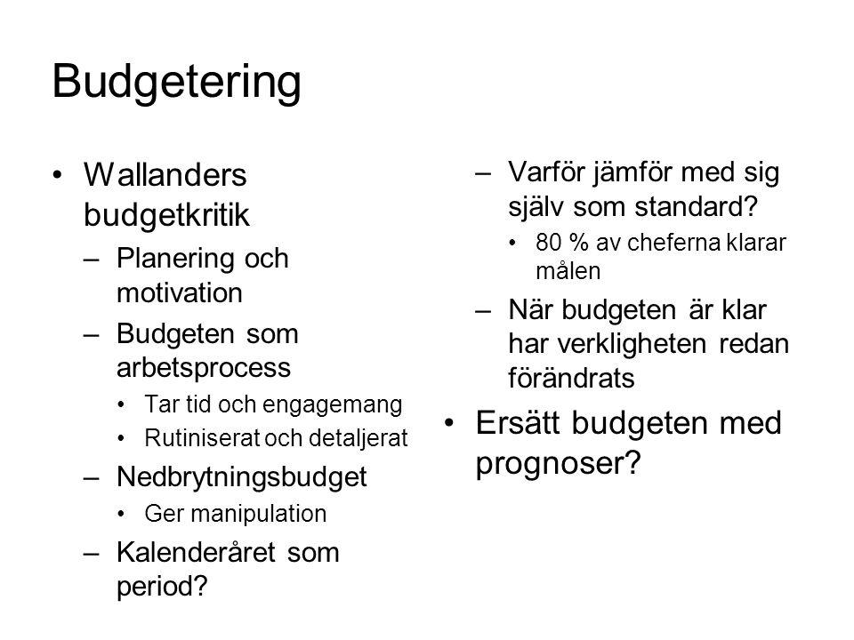 Kalkylering Debatter –30-tal: Enhetliga principer –50-tal: Självkostnad eller bidrag.