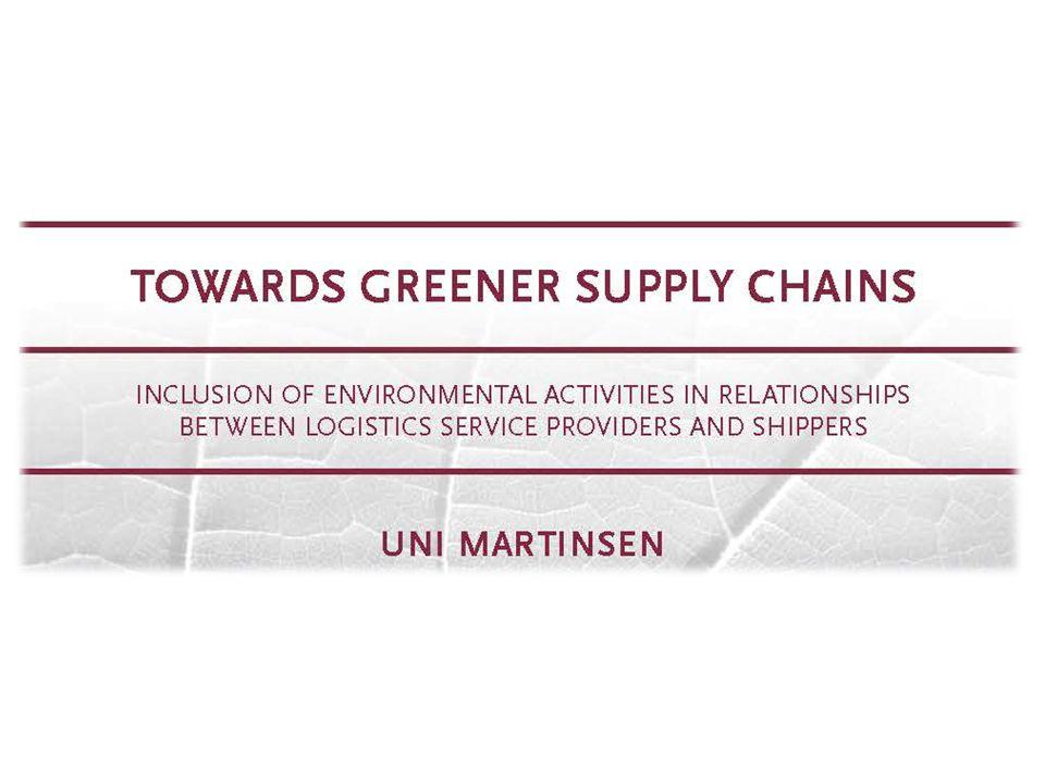 Miljön och logistiken Logistik handlar om att planera hur produkter kommer från råvaruleverantör till kund på ett kostnadseffektivt sätt och till en hög service.