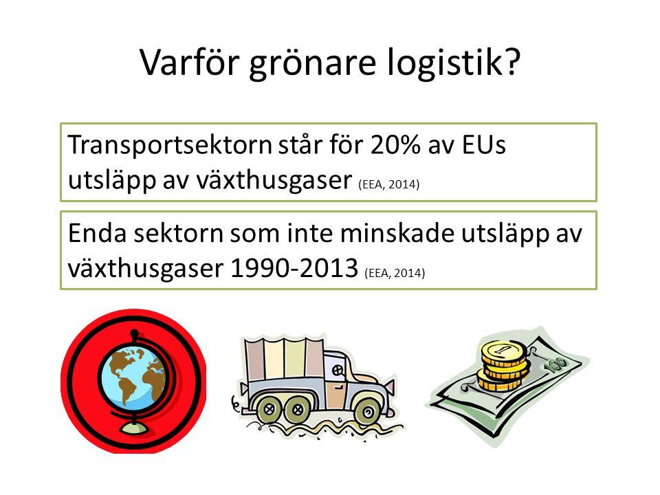 Varför grönare logistik.