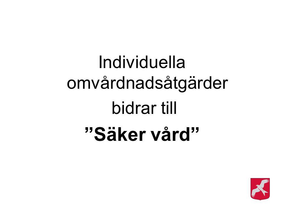 """Individuella omvårdnadsåtgärder bidrar till """"Säker vård"""""""