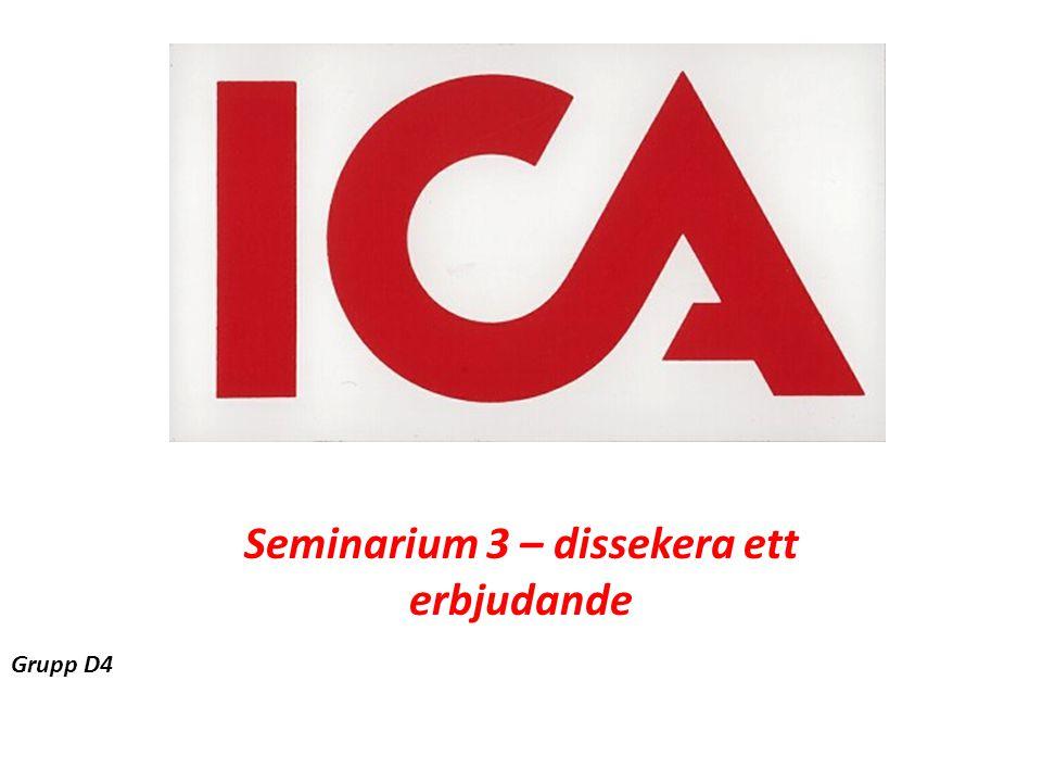 ICA Seminarium 3 – dissekera ett erbjudande Grupp D4