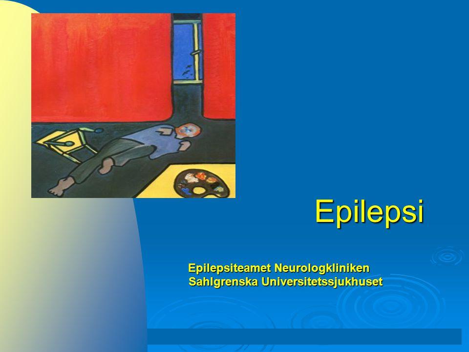 Epilepsi  Historik  Definitioner, orsaker, förekomst, prognos  Anfallsklassifikation, differentialdiagnoser Videodemonstration av anfall  Behandling - läkemedel, kirurgi  Sociala implikationer (inklusive körkort)