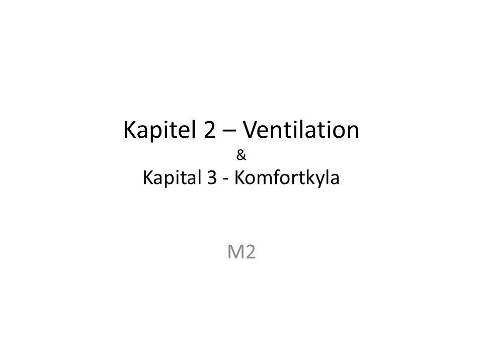 Kapitel 2 – Ventilation & Kapital 3 - Komfortkyla M2
