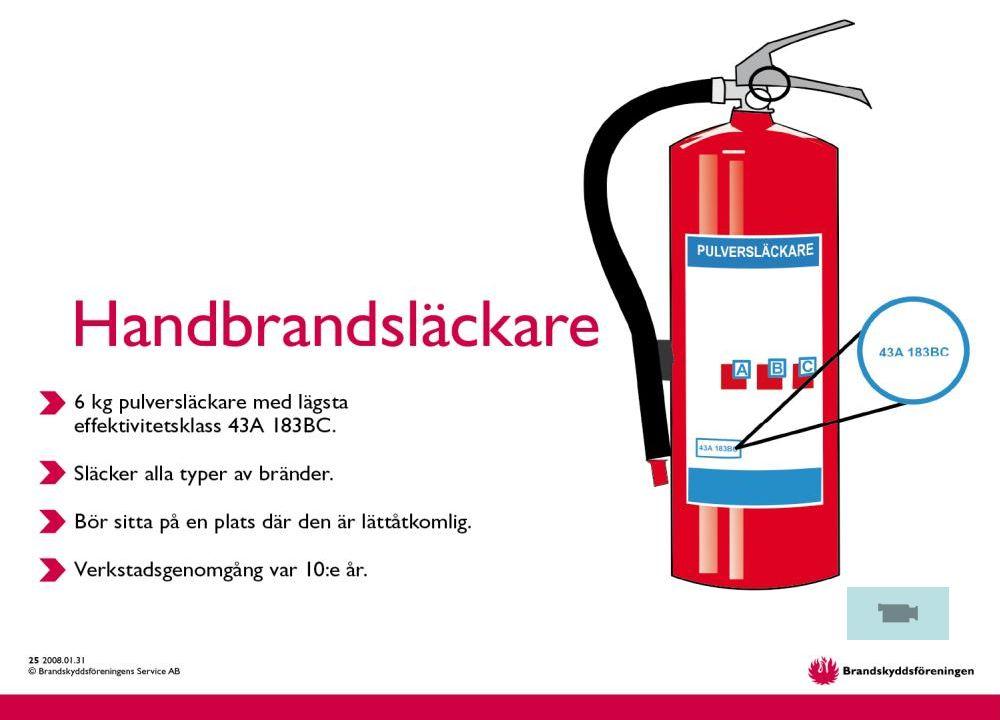 © Brandskyddsföreningens Service AB 17. 2015-03-31