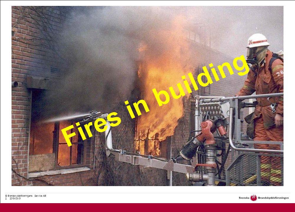© Brandskyddsföreningens Service AB 33. 2015-03-31 Dödsbränder 1999-2007