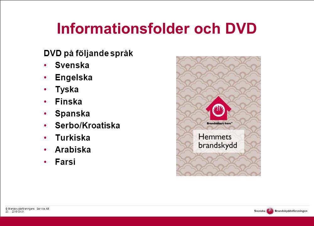 © Brandskyddsföreningens Service AB 20.