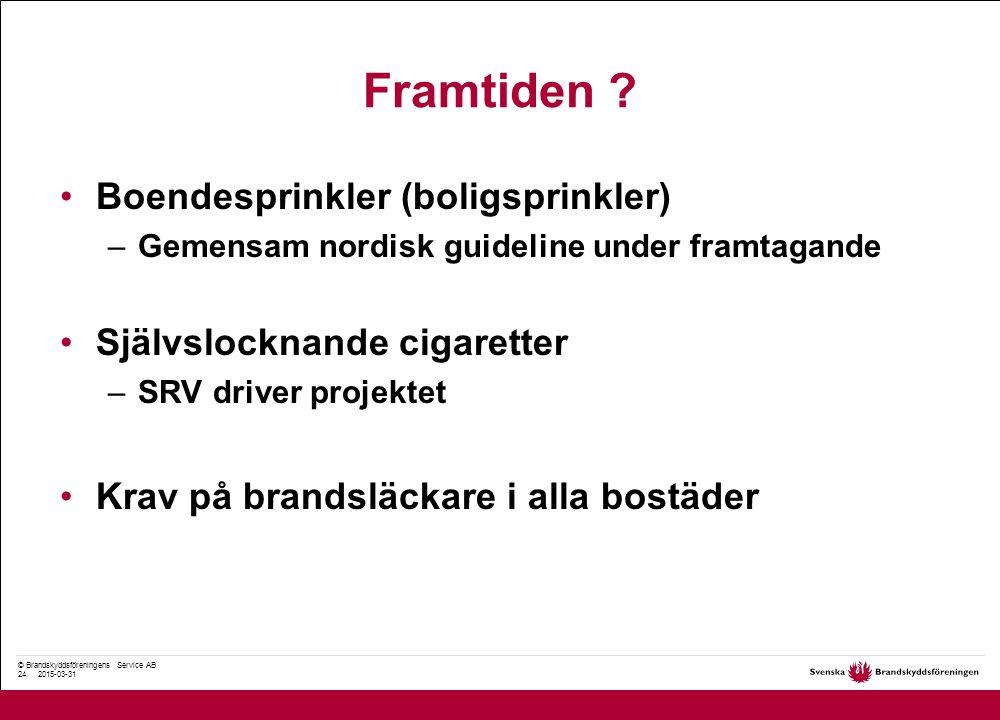 © Brandskyddsföreningens Service AB 24. 2015-03-31 Framtiden .