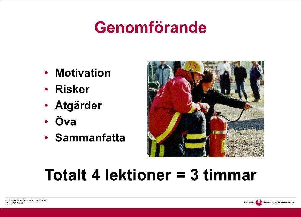© Brandskyddsföreningens Service AB 28.