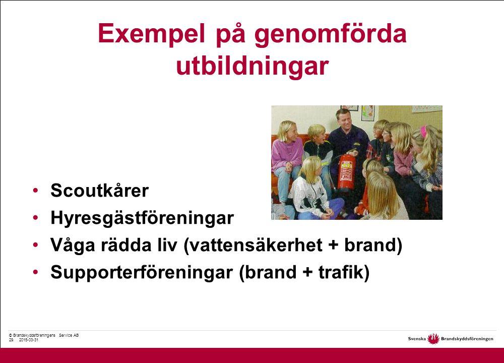© Brandskyddsföreningens Service AB 29.