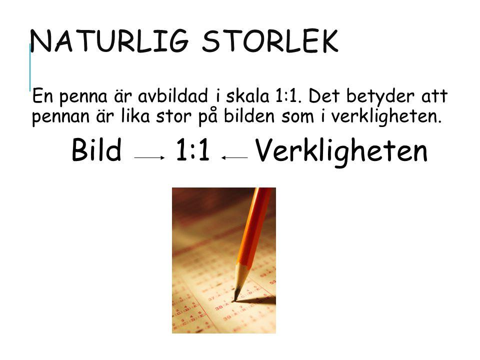 NATURLIG STORLEK En penna är avbildad i skala 1:1.