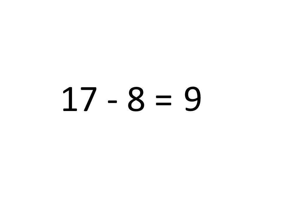 17 - 8 = 9