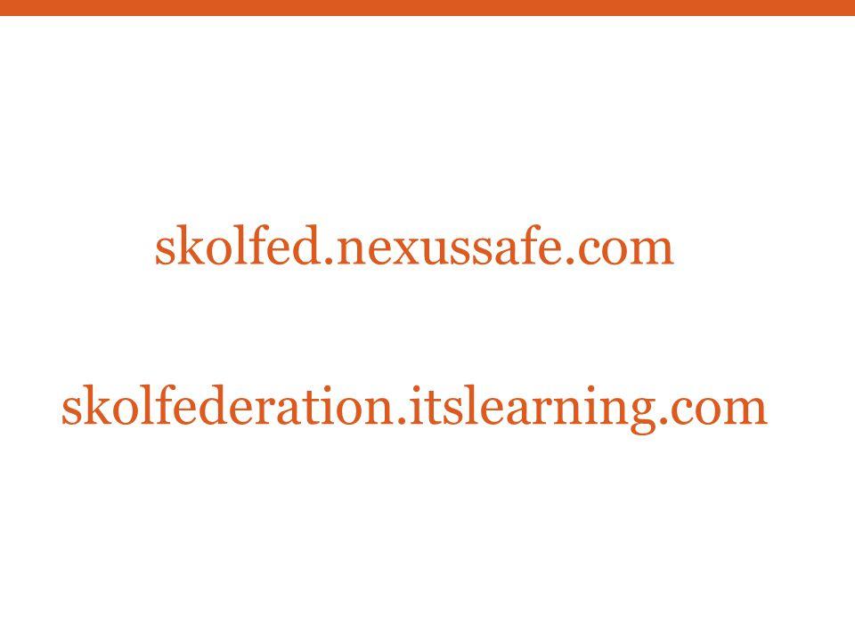 skolfed.nexussafe.com skolfederation.itslearning.com