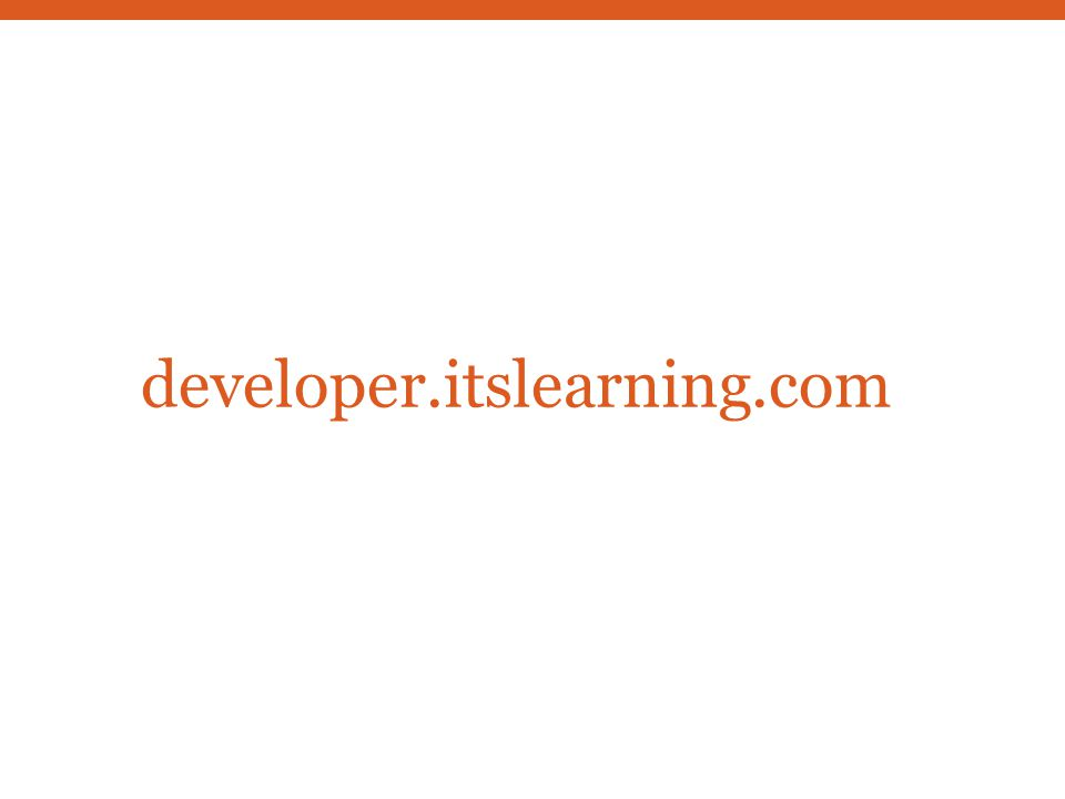 developer.itslearning.com